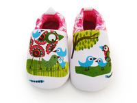 100% cotton winter Autumn Soft bottom Infant shoe bird design First Walkers Princess Baby girls Toddler shoes prewalker-3 pairs