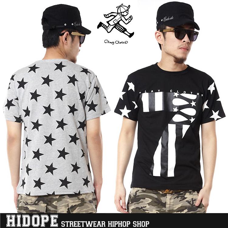 """Jogar Roupa Pusha T Shirt 2014 Hip Hop Flag Streetwear Five Star América """"7 """" T dos homens Frete Grátis(China (Mainland))"""