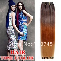 TONE 3 colors hair 1pc 18inch  dry colors heat resistant synthetic hair extension 04/30/27#