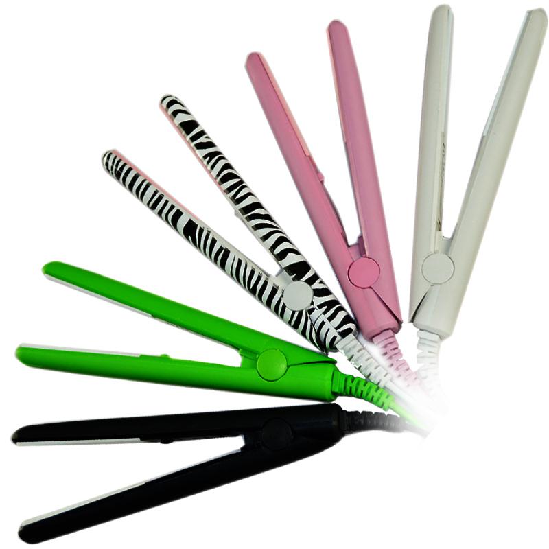 NEW IN 2015 Mini Ceramic hair straightener roller 2in1 dual hair sticks fringe rebonding splint Flat iron 110V-220V(China (Mainland))