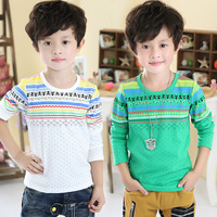 2014 spring and autumn print boys clothing baby child long-sleeve T-shirt tx-2178 basic shirt