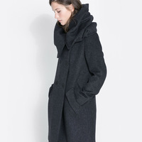 Woolen long-sleeve turtleneck cape double breasted trench female outerwear haoduoyi Y8P1 TP