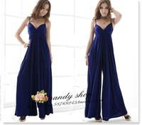 wholesale 2013 sexy beach dress V-neck spaghetti strap one-piece dress wide leg pants skirt