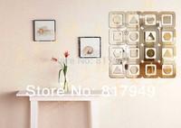 32 pcs 3D Mirror Wall Sticker Home decor big SIZE decorative wall clock wall watche Modern design living room wall decor P009