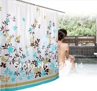 Beautiful flower Bathroom shower curtain, Waterproof, Free hooks   Free shipping