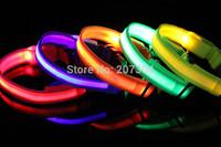 100Pcs/lot New Design Double Sided Flashing Dog Collar LED Pet Collar Various Color TB005