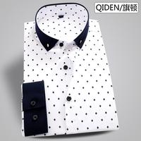 Camisa Social Real Fashion 2014 Spring New Arrival Man Long-sleeve Casual Shirt Korean Business Dress Male England Slim Shirts