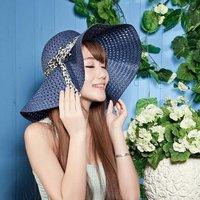 10pcs 2014 Women Blank Floppy Wide Brimmed PP Straw Hats Ladies Plain Big Summer Sun Hat Womens Beach Cap Lady Large Brim Caps