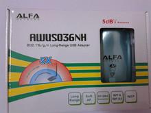 RECOMEND High Power ALFA AWUS036NH 2000mw Wifi USB Adapter 5db Antenna Ralink3070 Chipset Free Shipping(China (Mainland))