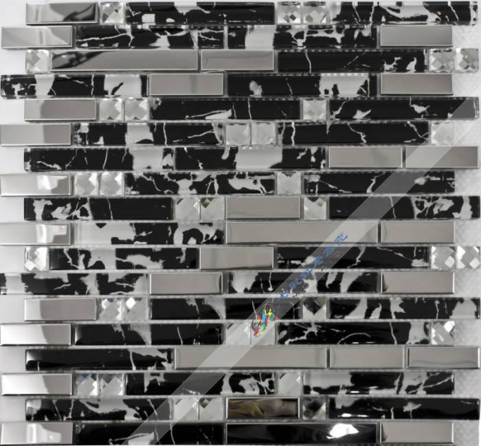 Achetez en gros dosseret de cuisine noire en ligne des - Mosaique miroir autocollante ...