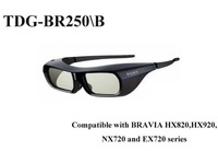 Free shipping Genuine TDG-BR250/B (TDGBR250) Black USB Chargable Active 3D Glasses For Sony TV