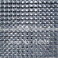 [Colorful Mosaic] KTV Hotel Hall Silver Dimond Mosaic Tile JZ007-1