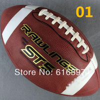 Hot sale Fashion style High-quality Cowhide Rugby Outdoor sports American Rugby Match Dedicated (9) youth Football Free shipping