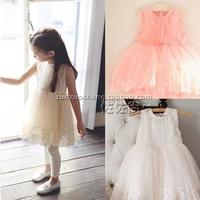 2014 new girls  lace puff  vest tutu dress beautiful