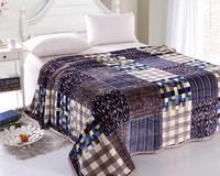 Best Sellers. 200*230 flannel blanket thickened Double Blanket black blanket coral velvet sheets cloud mink blanket 18 color
