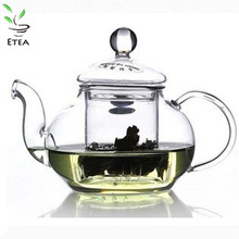 Free shipping CHINA classic handmade  600ml glass teapot piece set transparent flower tea set ETP003