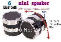 10pcs/lot 2014 New Mini Super Bass Portable Bluetooth Speaker Wireless speaker FM Radio TF Card music player