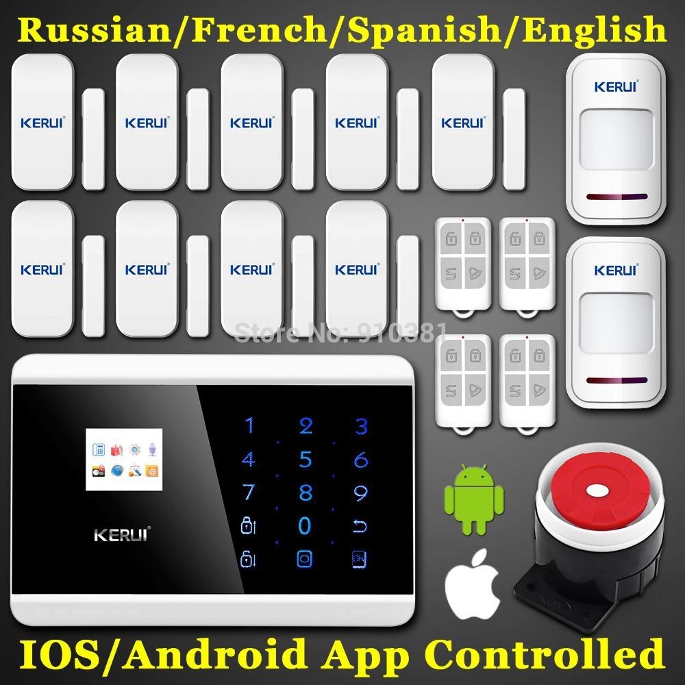 Spedizione gratuita! Touch screen display panel+lcd 99 pstn gsm casa di sicurezza anti intrusione Android App voce intelligente sistema di allarme