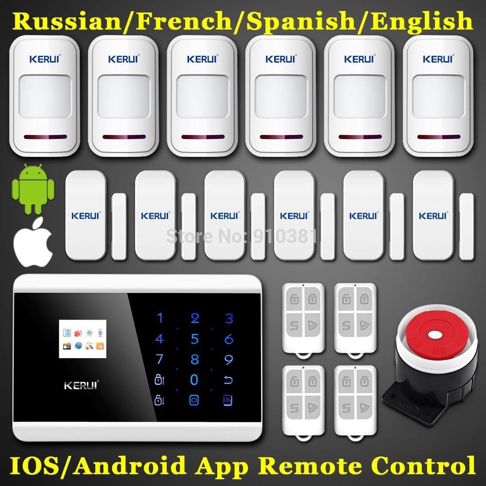 Versandkostenfrei! Touchscreen panel+lcd anzeige wireless gsm pstn sicherheit zu hause Einbrecher smart magnetischen android app alarmanlage