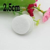 Flower flatback 2.5cm Round circle Felt accessory White Color patch felt fabric felt pads,DIY flower material1000pcs/lot
