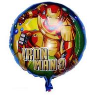 50pcs/lot 18inch Cartoon Iron Man Helium Balloons Birthday Party Wedding Decoration Foil Helium Balloon Inflatable Toys