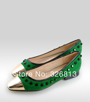 Genuine leather flat shoes ol work shoes spring and autumn women's genuine leather shoes