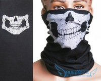 Motorcycle Bike Skull Multi functional Headwear Hat Scarf Face Mask Cap New Free shipping