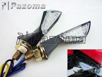 Pazoma Motorcycle  Mini Style LED Motorcycle Turn Signal Light Indicators For Honda Yamaha Suzuki