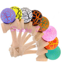Via Fedex/EMS,  Crack Kendama Dragon Skin Kendama Japanese Traditional Wood Game Kids Toy Made of Beech, 150PCS