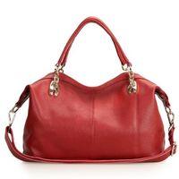 NEW  44cm Fashion Women Real Cow Leather Handbag Tote Shoulder Handbag 0412