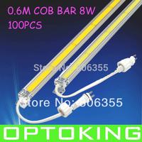 100PCS  0.6M  LED RIGID COB BAR,   MAX 8W ,DC24V, EXTENSIONAL STRIP , WHOLESALES FREE SHIPPING