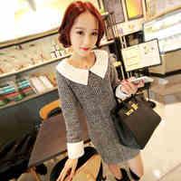 2014 spring and autumn winter dress women's fashion elegant slim hip long-sleeve basic lace one-piece dresses female