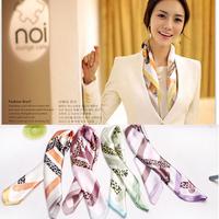 50*50cm small facecloth elegant female silk scarf ol all-match cravat Square Scarves newest brand design fashion scarf
