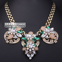 2014 Newest Colorful High Quality brand necklaces & pendants vintage costume chunky choker necklace statement necklaces women