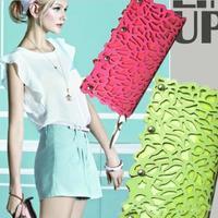 Free shipping 2014 cutout chain banquet bag the trend of the rivet day clutch messenger bag hot women's handbag 1014