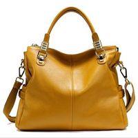 NEW Top Grain Real Genuine Cowhide Leather Lady Handbag Tote Shoulder Messenger Bag