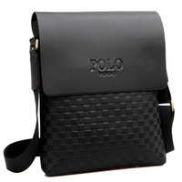 Free Shipping 2014 New Famous Brand POLO High Quality PU leather Men Messenger Bag men's Shoulder Bag Business Bag10 color style