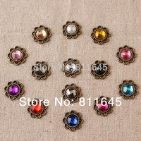 Mixture colour 100pcs Circular shape flat back Acrylic rhinestone DIY handmade jewelry 14mm Accessories Jewelry DIY decoration