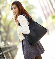 NEW Brown/Black Top Grain Real Genuine Leather Women Handbag Tote Purse Shoulder Bag