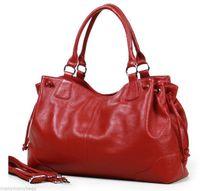 NEW LARGE Top Full Grain Real Cow Leather Women Handbag Tote Shoulder Cross Body Bag