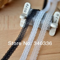 1cm wide e004 diy Wholesale guipure lace fabric black white nude braid lace trim terylene knitted lace cheap
