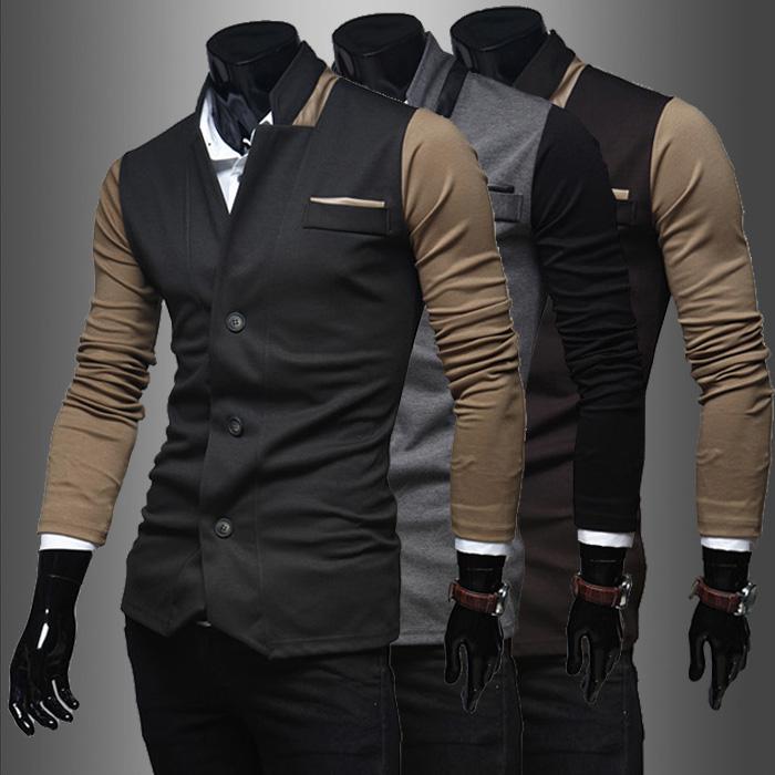 Весна новой искусственной кожи Куртка мужская
