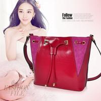 New 2014 Designers Brand Women Leather Handbags 100% Genuine Leather Handbags Women Messenger Bags Women Patchwork Shoulder Bags