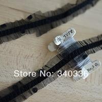 E275 dot black elastic ruffle lace fabric diy accessories handmade pleated fabric clothes decoration 2.5cm