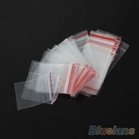 100PCS 4x6cm 5x7cm  Jewelry Ziplock Zip Zipped Lock Reclosable Plastic Poly Clear Bags Jewelry 0723