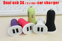 High Quality 5V 3A Universal 2 Dual USB Port Car Charger Adapter For Iphone Ipad For Ipod Samsung Galaxy Note Tab Tablet 10pcs