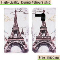 High Quality Cross Eiffel Tower Wallet Leather Case Cover For Motorola Moto G XT1032 Free Shipping UPS DHL EMS HKPAM CPAM
