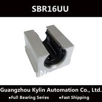 Best Price! 2 pcs SBR16UU Linear Bearing 16mm Open Linear Bearing Slide block,free shipping 16mm CNC Router linear slide