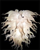 Cheap White Colored Glass Flower Chandelier