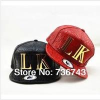 1pc/lot Free Shipping 2014 Hot Sale Unisex PU LK BBOY Snapback Hip Hop Cap Baseball Skateboard Hat  YS9000-3